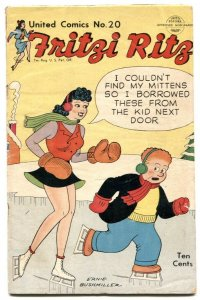 United Comics #20 1952- Fritzi Ritz - Ernie Bushmiller G/VG