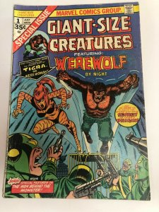 GIANT-SIZE CREATURES #1 (1974) Featuring Werewolf by Night ~ 1st app Tigra