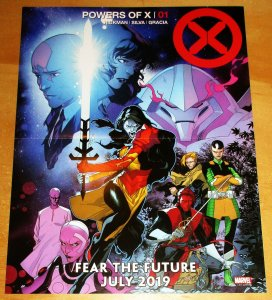 Powers Of X Folded Mini Promo Poster 10 x 13 (Marvel, 2019) New!