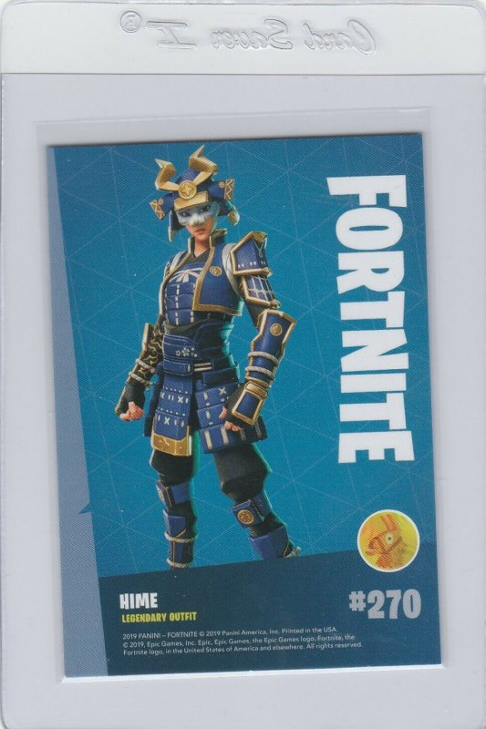 Fortnite Hime 270 Legendary Outfit Panini 2019 trading card series 1