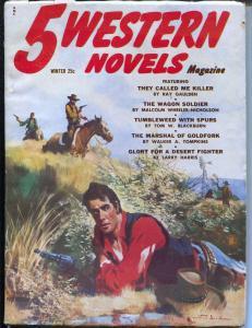 5 Western Novels-Winter 1954-final issue-Gerald McCann-Vol. 9 #1-FN+