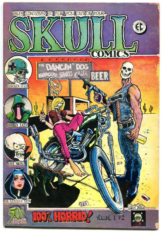 SKULL COMICS #2, VG+, Underground, Richard Corben, 1970, Rip Off Press