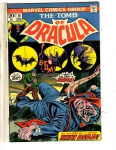 Tomb Of Dracula # 15 NM Marvel Comic Book Horror Fear Vampire Monster TW64