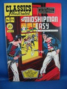 Classics Illustrated #74 [O] - Mr. Midshipman Easy (Aug 1950, Gilberton) F VF