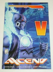 Axcend #1 (cover B)  VF/NM; signed by Shane Davis - Image Comics