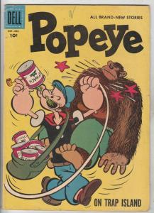 Popeye #42 (Oct-57) FN- Mid-Grade Popeye, Olive Oil, Swee'pea, Whimpy