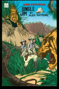 OFFICAL JUNGLE JIM #7 1988 TIGER COVER ALEX RAYMOD ART FN