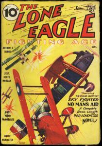 LONE EAGLE 1933 SEPT-#1-AVIATION PULP THRILLS VG