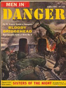 Men In Danger Magazine August 1956- Sisters of the Night G/VG