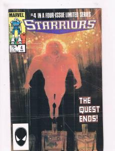 Starriors # 4 VF Marvel Comic Book Copper Age 1984 Space Series Issue TC1