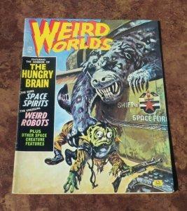 Weird Worlds #1 VF- 1971 Horror Magazine Eerie The Hungary Brain Robots Spirits