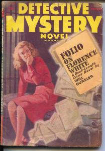 Detective Mystery Novel-Winter 1948-Thrilling-woman in jail-Johnston McCulley-VG