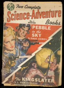 TWO COMPLETE SCIENCE-ADVENTURE BOOKS #1-ASIMOV-HUBBARD FR