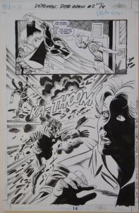 JIM APARO / RICK BURCHETT original art, DEADMAN #2 pg 14, 11x17, 2001, Splash