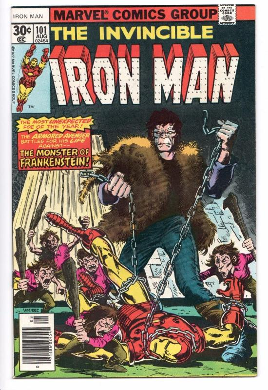 Iron Man #101 - 1st App Dreadknight (1977) - VF/NM