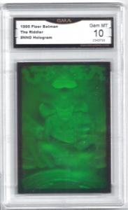 1995 Fleer Batman The Riddler #nno Hologram Promo Card - Graded Gem Mint 10