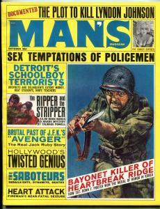 Man's Magazine October 1964- Ripper & the Stripper- Pat Conley