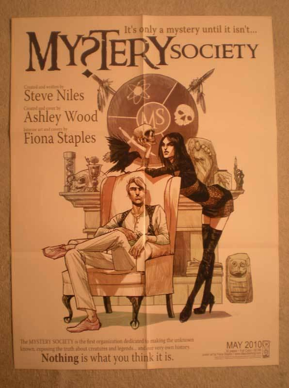 MYSTERY SOCIETY Promo Poster, 18x24, 2010, Unused, more in our store