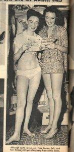 Famous Paris Models 2/1953-Diane James-cheesecake-swimsuits-models w/ comics-FR/