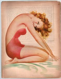 Nifty 4/1945-Par-cartoons-comics-gags-pin-up girl cover-FR/G