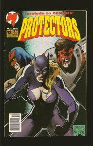 Malibu Comics Protectors #12 August 1993