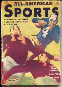 All-American Sports #1 12/1940-1st issue-Mort Meskin-football cover-T.W. Ford-VG
