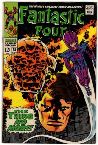 Fantastic Four #78 Stan Lee Jack Kirby MARVEL Classic