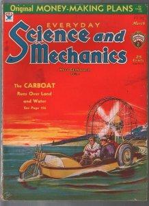 Everyday Science & Mechanics 3/1934-Frank R Paul-carboat-Dunninger-VG