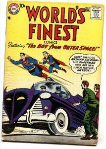 WORLD'S FINEST #92 comic book 1958-SUPERMAN-BATMAN-dc silver-age