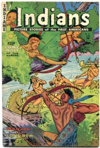 INDIANS  #12 1952-MANZAR-LONG BOW-Golden Age Fiction House Western VG