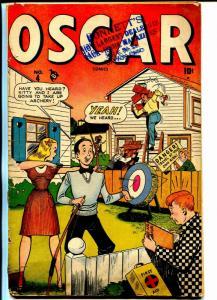 Oscar #4 1947-Marvel-Spicy Good Girl Art-teen humor-P/FR