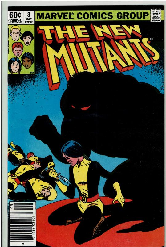 New Mutants #3, 9.2 or Better, 1st Cameo Demon Bear