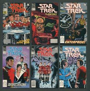 Star Trek #1  #2  #3  #4  #5  #6 (SET)  9.6 NM+ - 9.8 NM-MT  1989