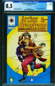 ARCHER AND ARMSTRONG #0-CGC 8.5 First appearance Valiant comic book - 2041560005
