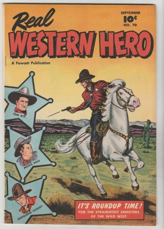Real Western Hero #70 (Sep-48) VF/NM High-Grade Hopalong Cassidy, Monte Hale,...