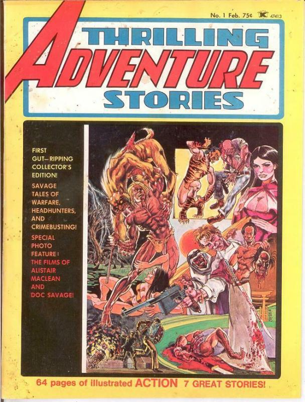 THRILLING ADVENTURE STORIES (1975) 1 GOOD Feb. 1975