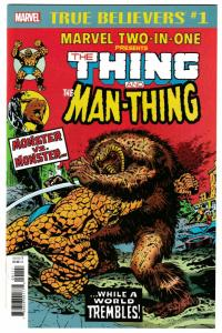 True Believers Fantastic Four Two-In-One Thing & Man-Thing #1 (Marvel, 2018) NM