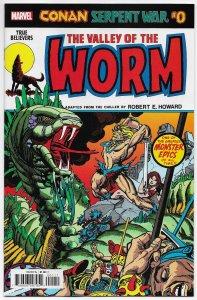 True Believers Conan Serpent War #0 Valley Of The Worm (Marvel, 2020) NM