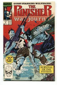 Punisher War Journal #7 1988  Wolverine cover comic book MARVEL NM-
