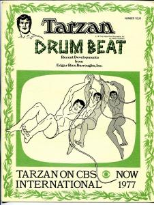 Tarzan Drum Beat #4 1977-ERB Inc-newsletter-movie & comic book info-FN