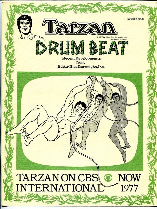 Tarzan Drum Beat #4 1977-ERB Inc-newsletter-movie & comic book info-FN