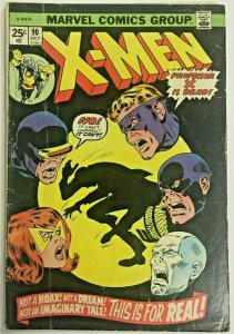 UNCANNY X-MEN#90 VG/FN 1974 MARVEL BRONZE AGE COMICS
