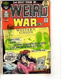 Weird War Tales # 2 VF DC Comic Book Joe Kubert Army Navy Marines Air Force JL9
