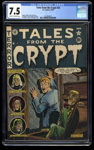 Tales From The Crypt #23 CGC VF- 7.5 Cream To Off White The Big Book!