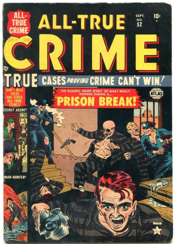 All-True Crime #52 1952- Final Issue- Atlas Golden Age VG+