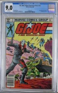 G.I. JOE #14 (Marvel,8/1983) CGC 9.0  1st Full Destro!