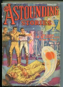 ASTOUNDING STORIES 11/1932-CLAYTON-WEIRD MENACE-ALIEN-H W WESSO-vg
