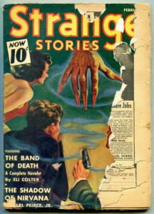 Strange Stories Pulp February 1941- Band of Death- Shadow of Nirvana F/G
