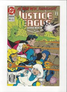Justice League America #65 1987 DC Comics Copper Age  NM