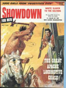 Showdown for Men Pulp Magazine 6/1956- Jeannie Mann-headhunters-spearfishing- FN
